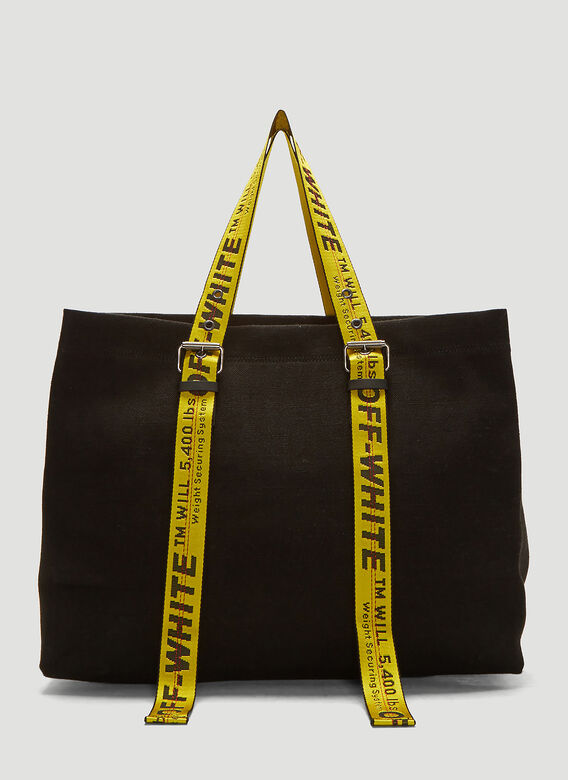 temperament shoes special buy top-rated discount Off-White Canvas Tote Bag in Black   LN-CC