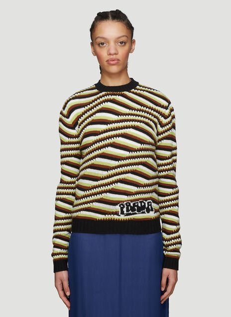 Prada Striped Cashmere Sweater