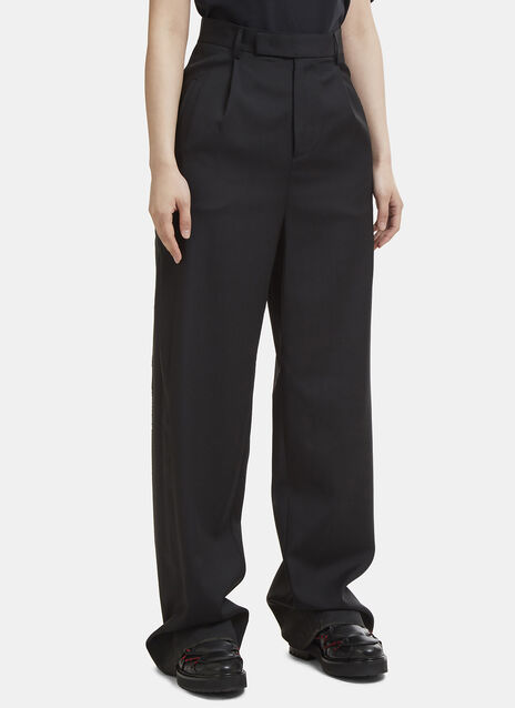 Yang Li High Waist Raw Seam Pants