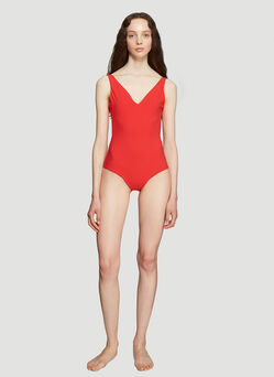 1a26c126 Gucci Logo Swimsuit in Pink | LN-CC