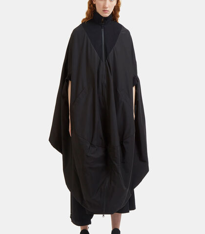 Novelty Oversized Reversible Poncho Coat