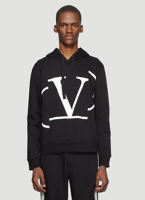 Valentino Hooded Deconstructed Go Logo Sweater