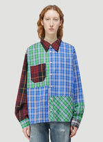 (Di)vision Deadstock Checked Patchwork Shirt