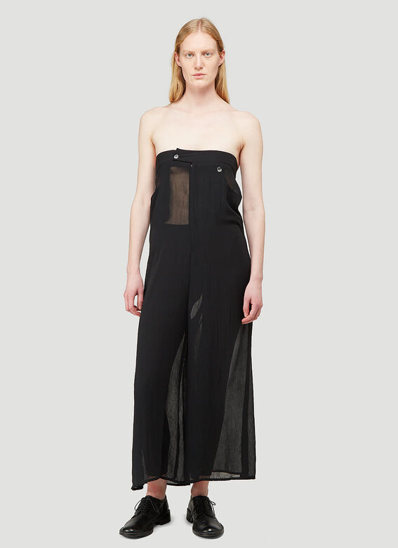 ARO ARCHIVE Sheer Oversized Trousers as Sleeveless Jumpsuit 1