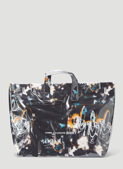 Comme Des Garcons Futura Tote Bag in Black