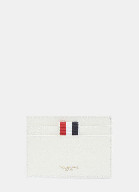 Thom Browne Tennis Racket Pebble Grained Card Holder
