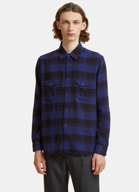 Oversized Plaid Patch Pocket Shirt