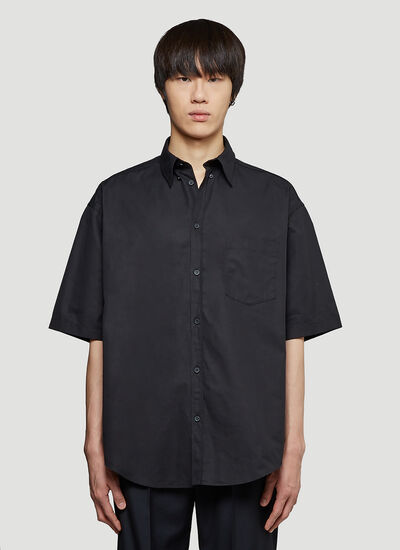 Balenciaga Boxy Short-Sleeved Shirt