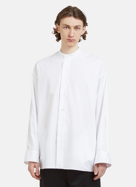 Jil Sander Collarless Piping Shirt