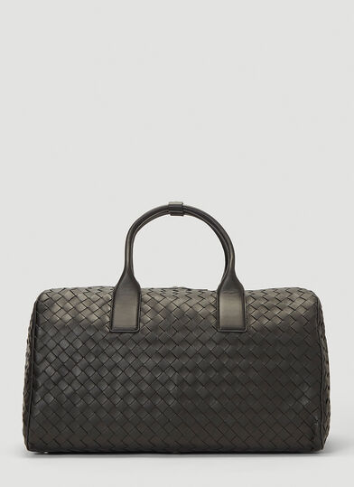 보테가 베네타 Bottega Veneta Woven Weekend Bag in Black