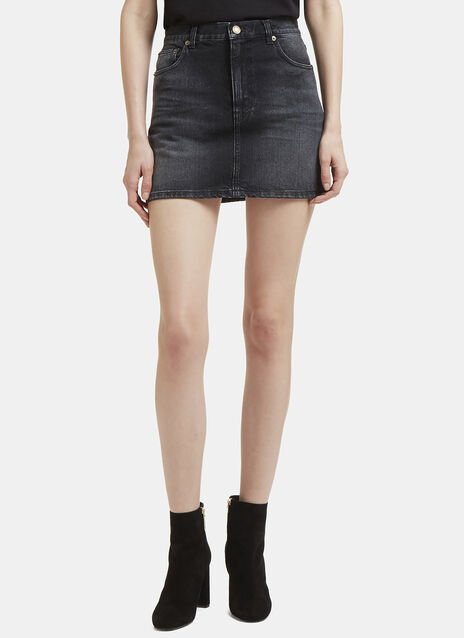 Saint Laurent Denim 'Property' Miniskirt