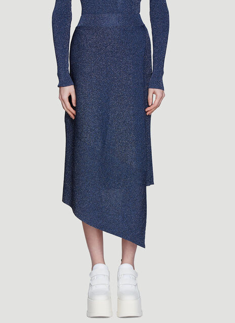 Stella McCartney Asymmetric Lurex Knit Skirt