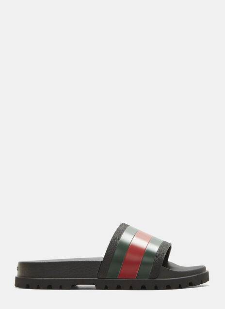 Gucci Tricolor Stripe Sandals