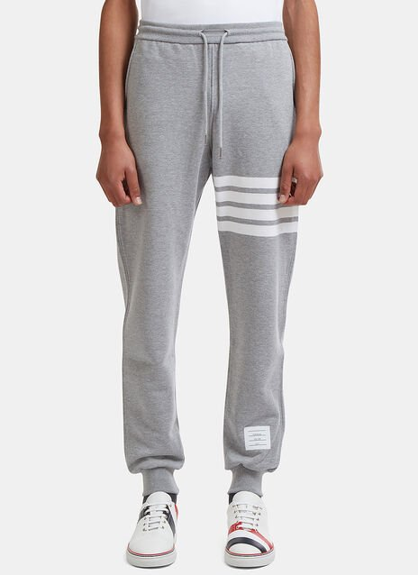 Thom Browne Classic Sweatpants With Engineered 4 Bar In Classic Loop Back