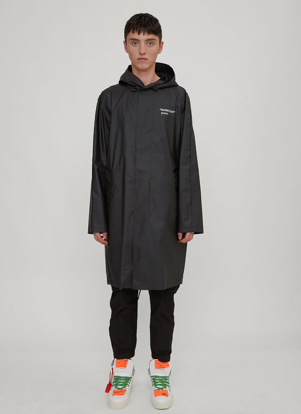 Black Quote LN Hooded CC Off White Raincoat in BPExqWzXw