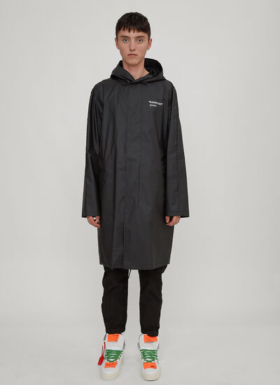Off-White Hooded Quote Raincoat