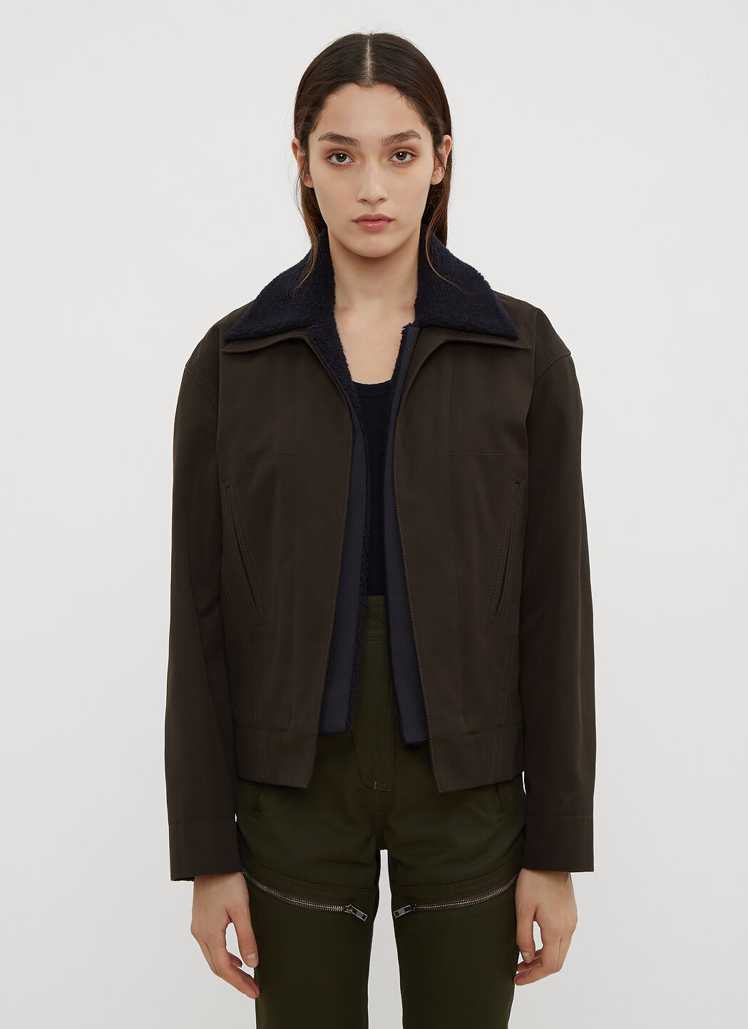 Double Black Layer Cropped LN in Atlein Jacket CC qU8nw5