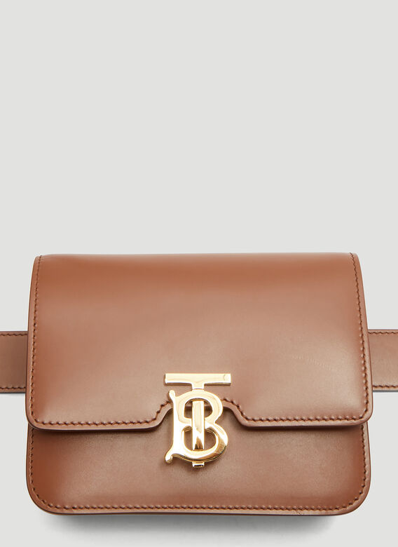 3ac9f3bfe575 Burberry Belted TB Bag in Tan