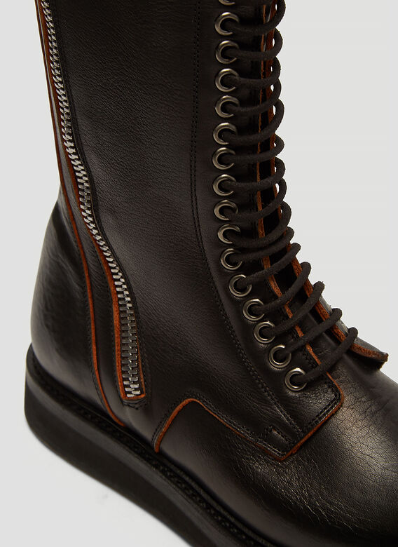 Rick Owens Babel Army Creeper Zip Boots