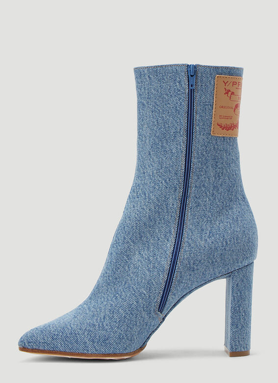 Y/Project Denim Heeled Boots 3