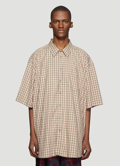 Gucci Oversize Check Cotton Shirt