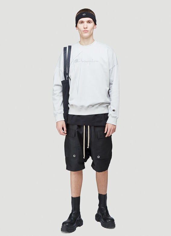 Rick Owens X Champion PULLOVER SWEAT (OYSTER) 2