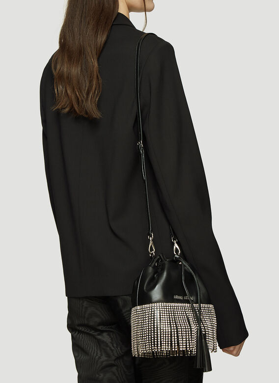 Miu Miu Crystal Fringe Bucket Bag