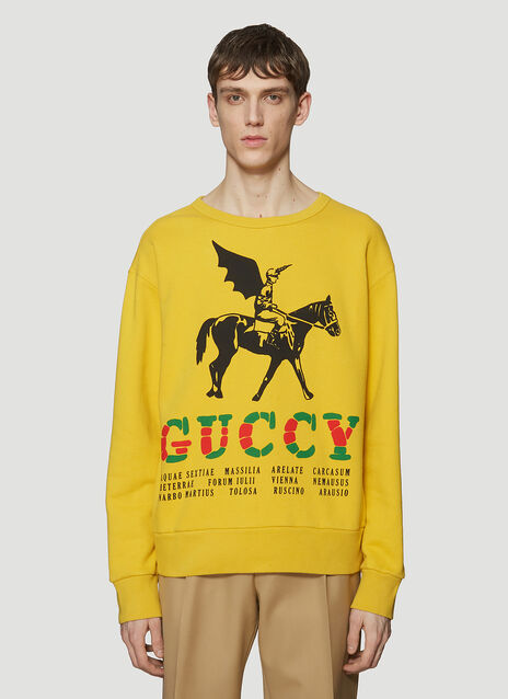 Gucci Winged Jockey Logo Sweatshirt
