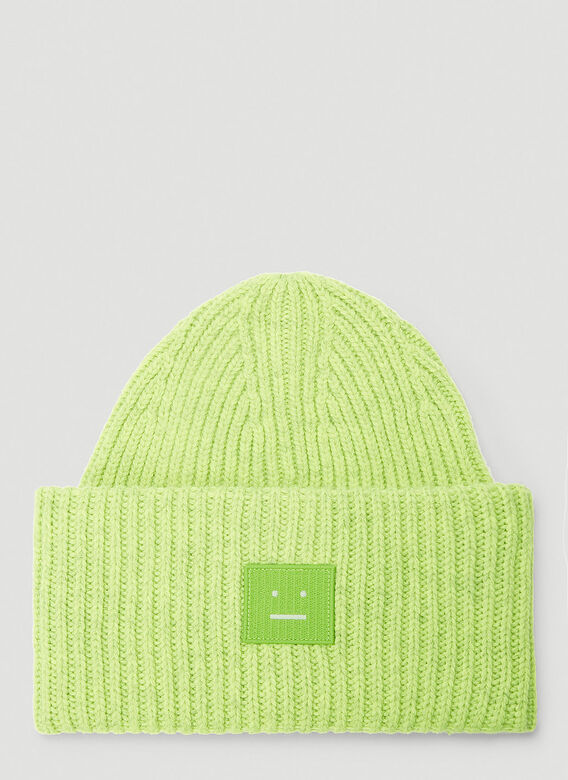 Acne Studios Hats Pansy N Face Beanie Hat in Green