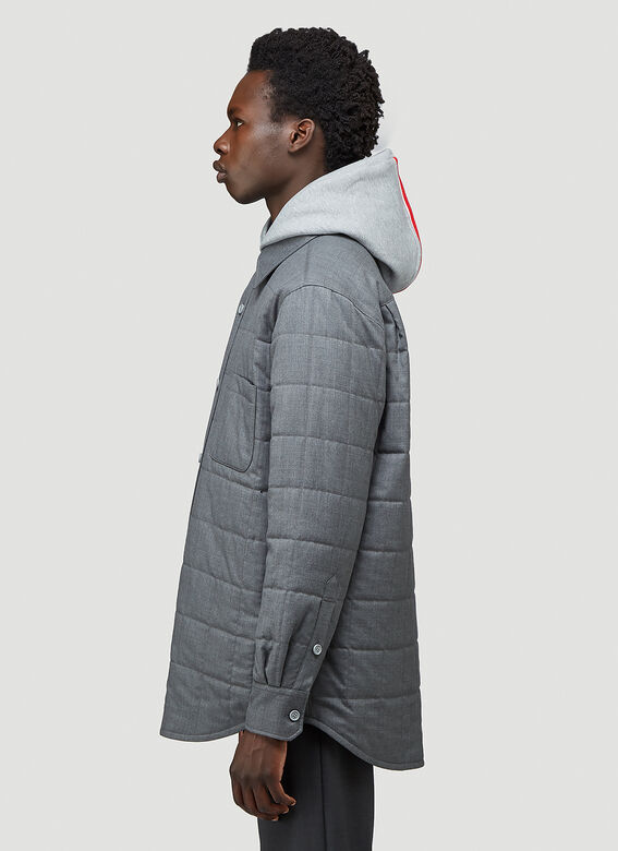 Thom Browne DOWNFILL SHIRT JACKET IN SUPER 120'S TWILL 3