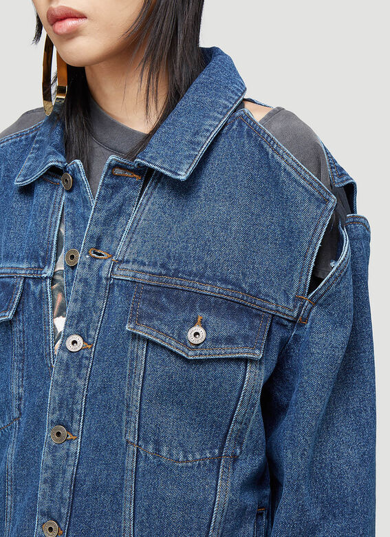 Y/Project CLASSIC PEEP SHOW DENIM JACKET 5