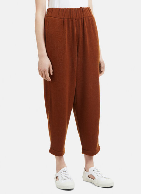 Lauren Manoogian Knit Cropped Tapered Pants