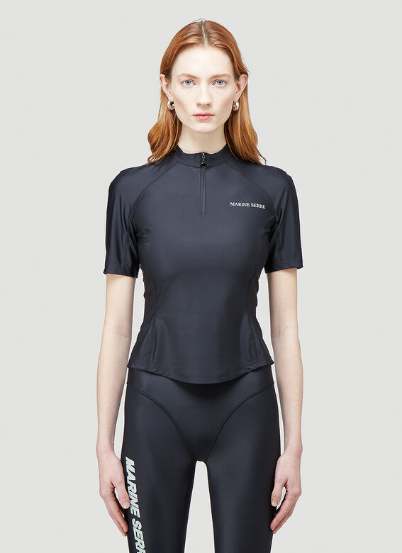 Marine Serre OPTIC MOON SEA-SKIN TRAINING TOP 1