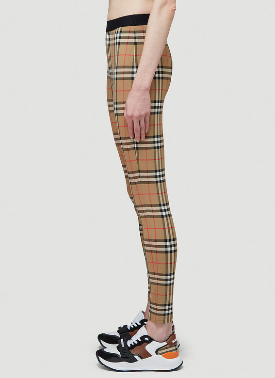 Burberry Logo Detail Vintage Check Leggings 3