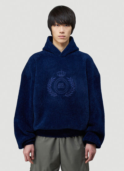 Balenciaga Embroidered-Logo Hooded Sweatshirt