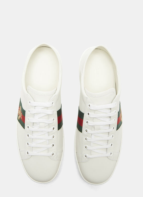 Gucci Ace Bee Embroidered Web Sneakers