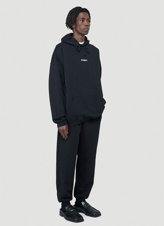 Vetements Logo-Patch Hooded Sweatshirt 2