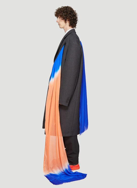 Raf Simons EXTREME OVERSIZE COAT WITH ZIPPERS