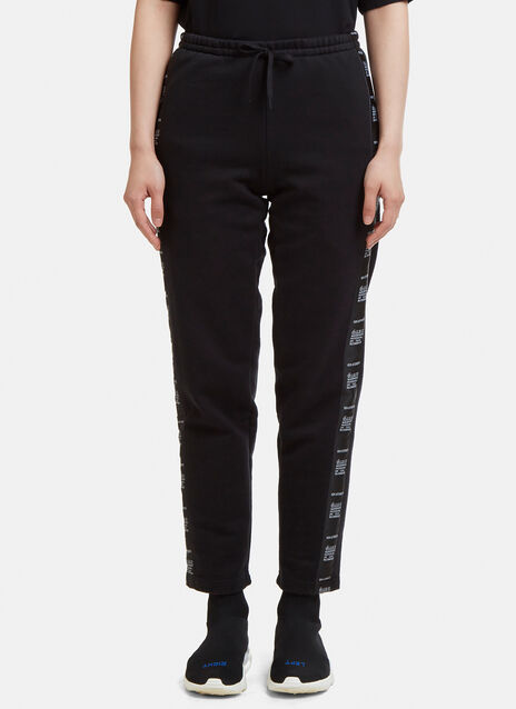 Vetements Wash Separately Tape Track Pants