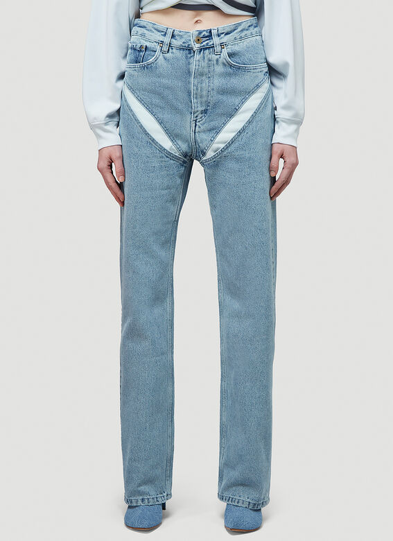 Y/Project CLASSIC V CUT-OUT JEAN 1