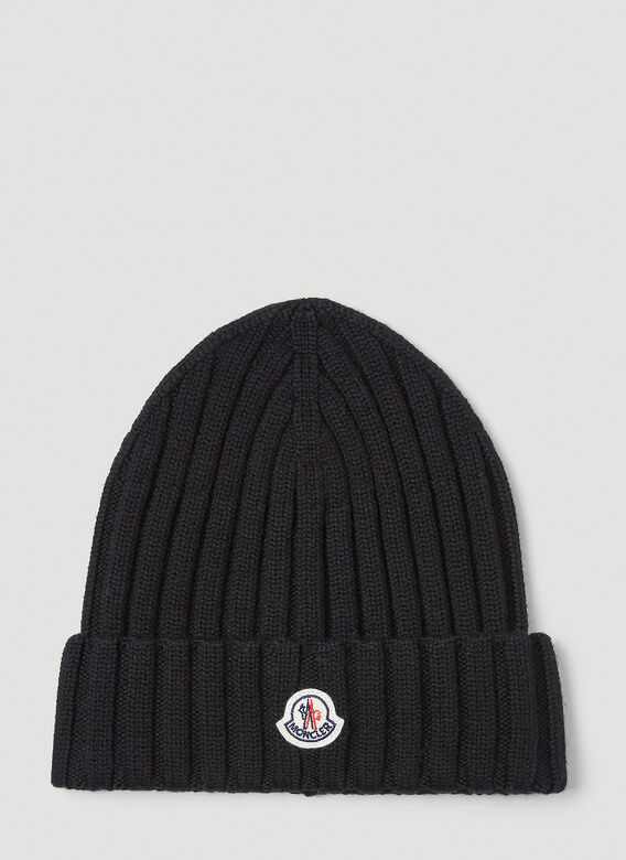 Moncler Chunky Knit Beanie Hat 1
