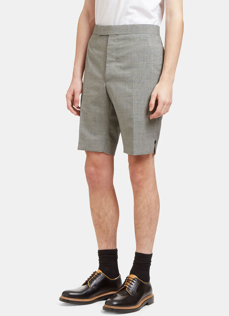 Checked Buttoned Shorts