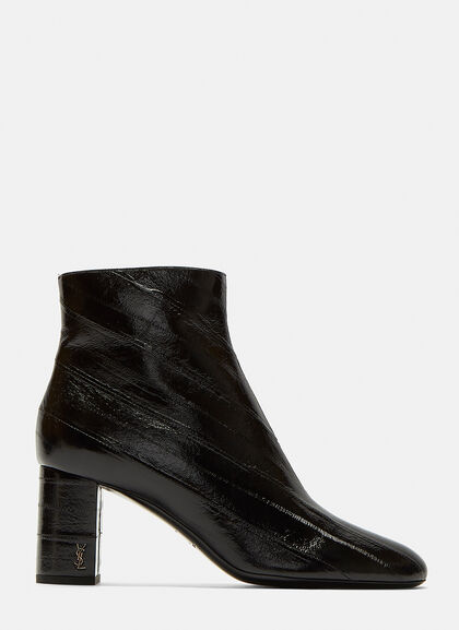 Image of LouLou 70 Zipped Eel Leather Ankle Boots