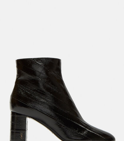 LouLou 70 Zipped Eel Leather Ankle Boots