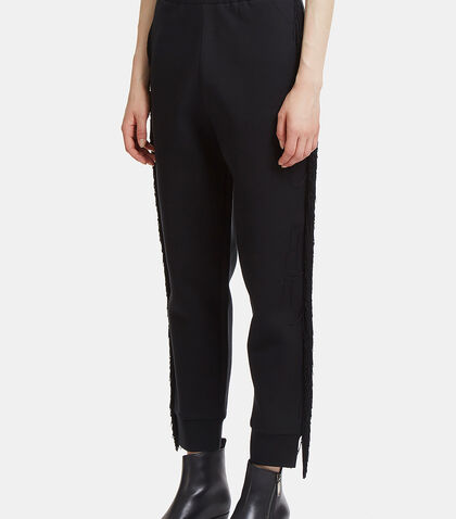Fringed Jersey Track Pants
