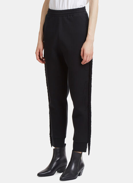 Stella McCartney Fringed Jersey Track Pants