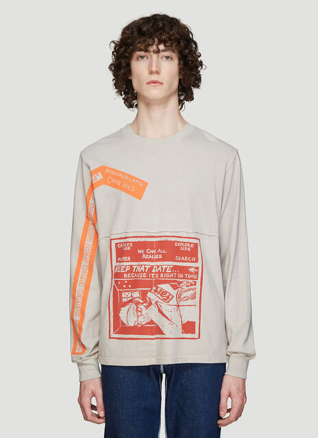 Eckhaus Latta X Come Tees Long Sleeve Lapped Dust T-Shirt