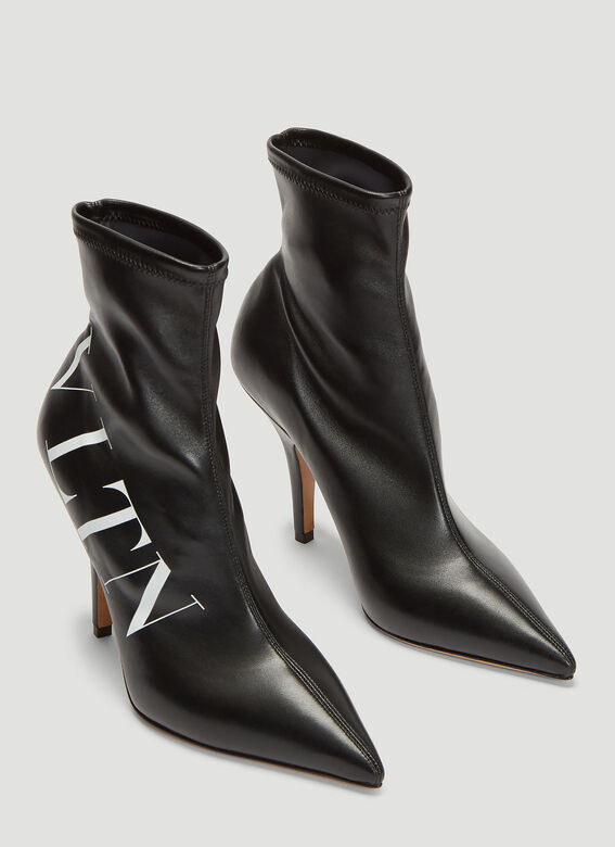 Valentino VLTN Leather Sock Boots