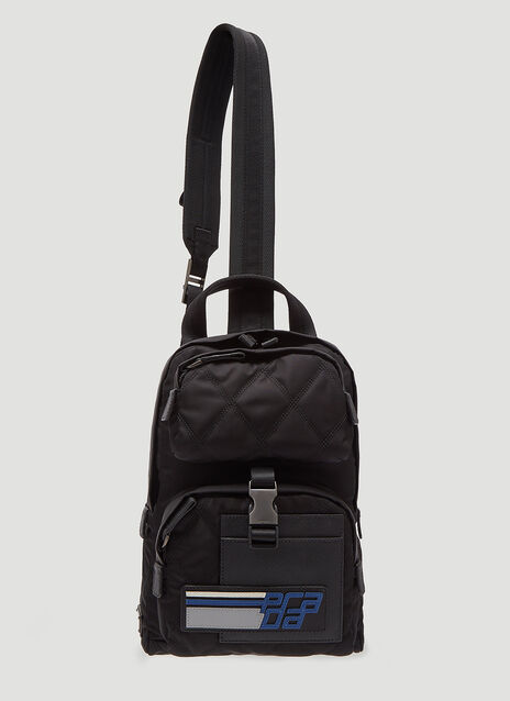 Prada Mini Quilted Tessuto One Strap Backpack