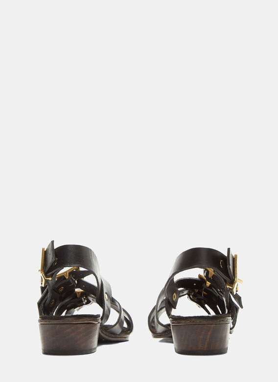 Atelier Inscrire Buckled Strap Leather Sandals